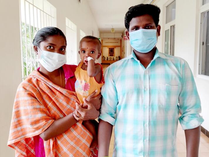 Lipi with her parents Josephine Pavithra B and Deepan Prabakaran A